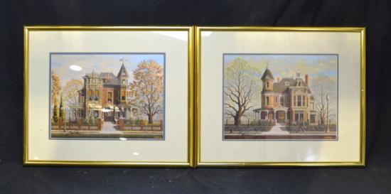 Pair of Souders House Prints