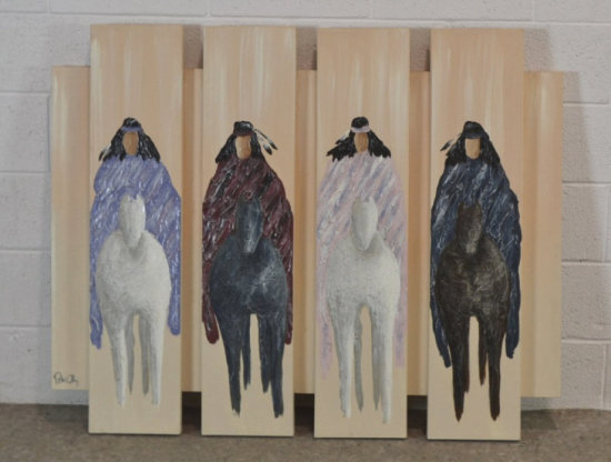 Native Americans Painted on Canvas by Peter Colby