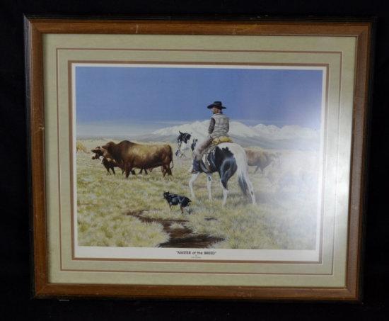 Dyrk Godby Western Cowboy Print