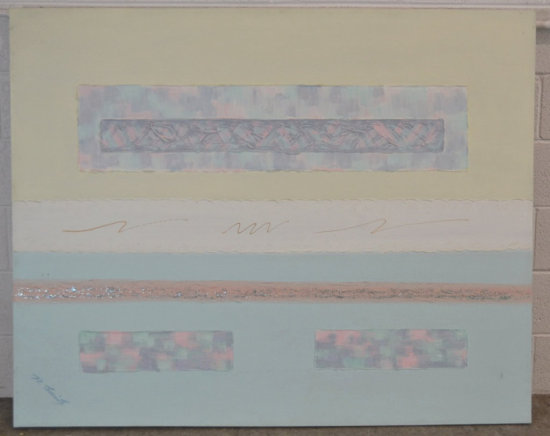 Mixed Media Abstract Art on Canvas, Signed