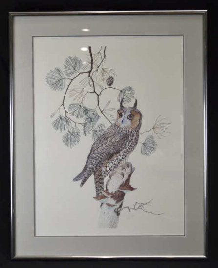 Robin Hill Signed Print, Owl