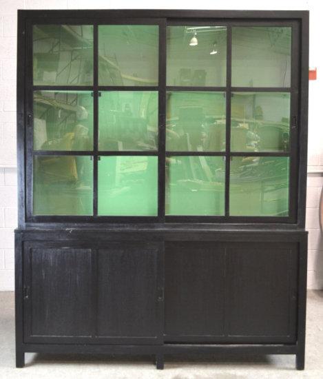Lighted China Hutch w/ Storage Cabinet