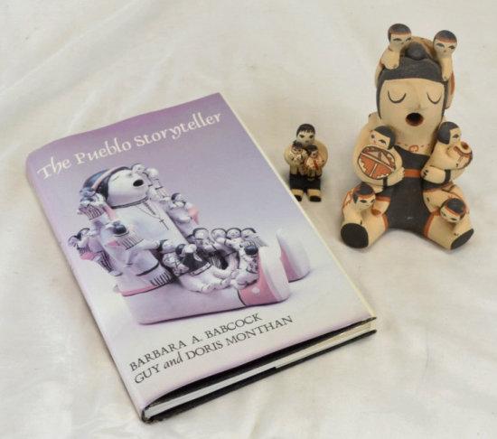 Jemez Pueblo Storyteller Book & Pottery Figures