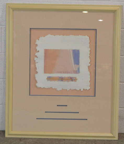 Abstract Pastel Encased Pressed Paper Print