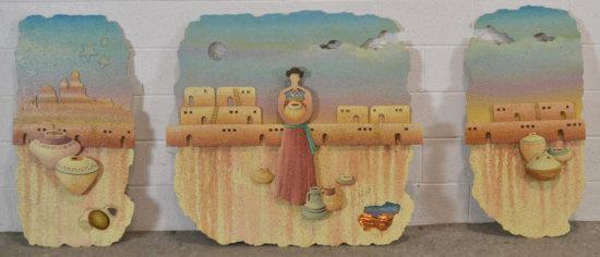 3 Pc Southwest Pottery Wall Art