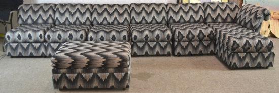 6 Pc Sectional Sofa w/ Ottoman