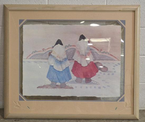 Print of Native American Women Walking