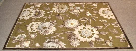 Halton Floral Print Area Rug