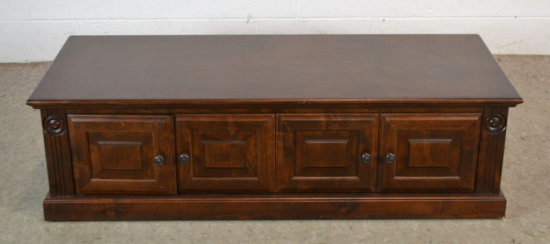 Pine Wood Low Table Cabinet