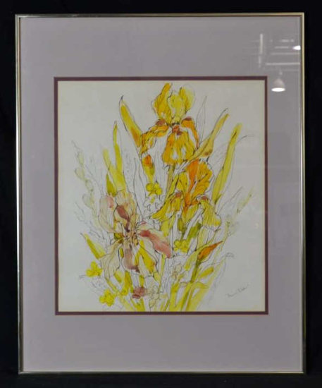Signed Watercolor, Floral