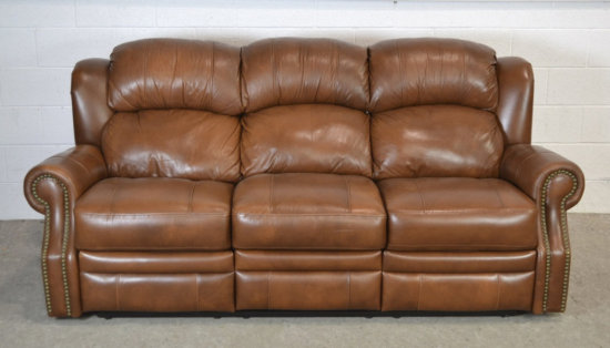Leather Sofa w/ Incliners