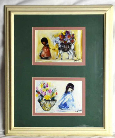 DeGrazia Prints, Flower Cart & Donkey to Market