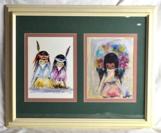 DeGrazia Prints, Flower Girl & Two Little Indians