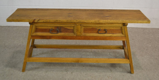 Primitive Rustic Wood Sofa Hall Table w/ Drawers
