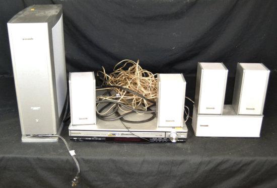 Panasonic Home Theater w/ Sub & 5 Speakers *Works*