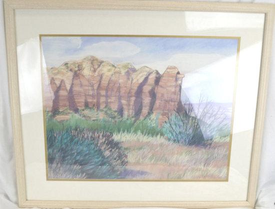 Desert Land Lithograph