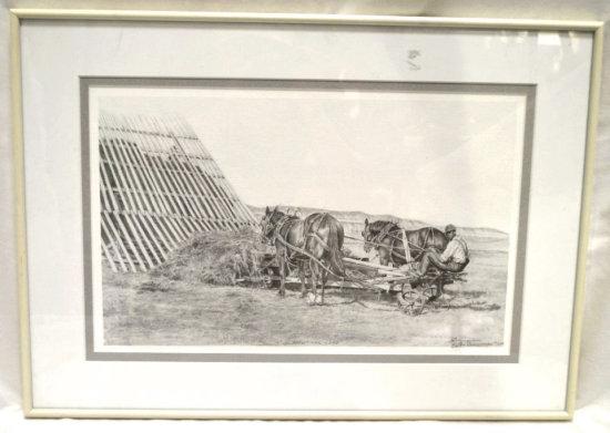 "Bert Rakestraw ""Slippin' The Load"" Ltd. Ed. Litho"