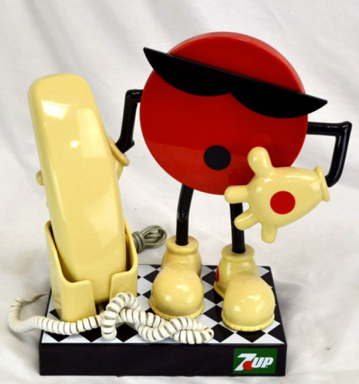 7up Cool Spot Mascot Touch Tone Telephone
