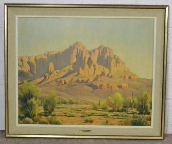 N.Yeckley Desert Grandeur Print on Board