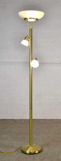 Brass Torchiere Floor Lamp