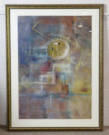 Signed Mixed Media Abstract Art