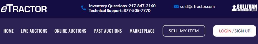 eTractor Auctions