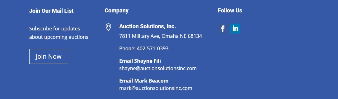 Auction Solutions Inc